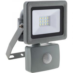Elexity Projecteur LED 10W Gris avec détecteur - IP44 CE