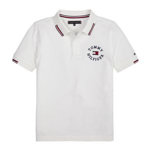 Tommy Jeans Polo manches courtes 12-16 ans Blanc - Taille 16 ans