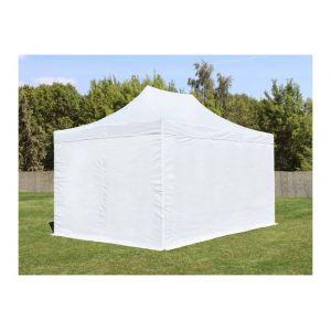 Intent24 Tente de Réception Blanche 3 x 4,5 m - Tente pliante avec côtés