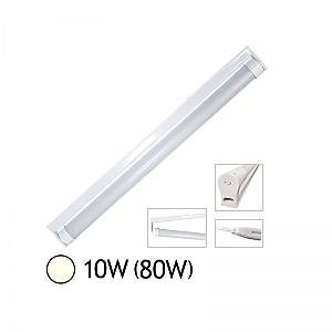 Vision-El Tube LED 10W (80W) T8 600 mm Blanc jour 4000°K dépoli + support chainable