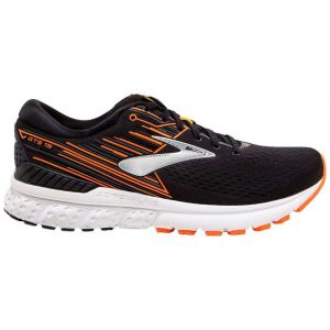 Brooks Adrenaline GTS 19, Chaussures de Running Homme, Noir (Black/Orange/Silver 092), 42 EU