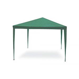 Tonnelle de jardin 3x4 vert acier Toile 110g/m2 mobilier d'extérieur