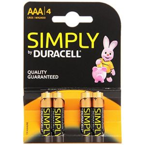 Duracell 4 piles Simply LR03 (AAA)