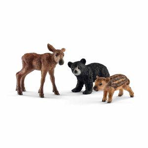 Schleich 41457 - Bébés animaux de la forêt