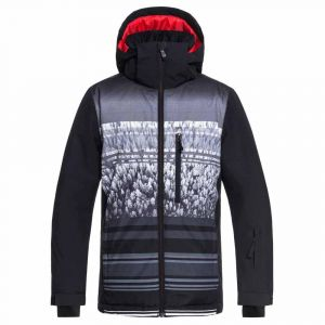Quiksilver Vestes Mission Engineered Jeunes - Black / Alpin Youth - Taille 14 Années
