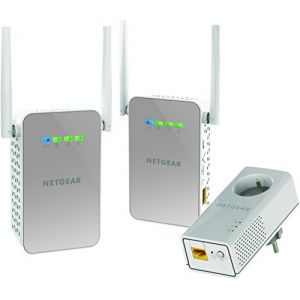 NetGear PLPW1000T - Pack de 3 CPLs Wifi/traditionnel avec Prise