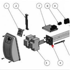 9392330 - Résistance de réchauffeur Aqua-Line Titane 9 kW