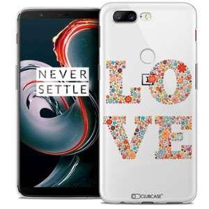 CaseInk Coque OnePlus 5T (6 ) Extra Fine Summer Love Flowers