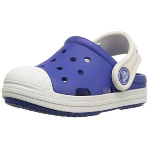 Crocs Bump It Clog Kids, Mixte Enfant Sabots, Bleu (Cerulean Blue/Oyster), 24-25 EU