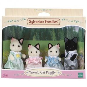 Epoch Sylvanian Families 8151 - Famille chat bicolore