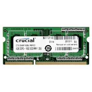 Crucial CT51264BF160BJ - Barrette mémoire 4 Go DDR3 1600 MHz CL11 SoDimm 204 broches