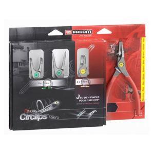 Facom PCJ4PB - Jeu de 4 pinces pour circlips