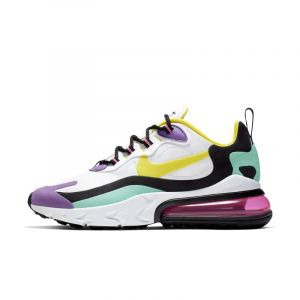 Nike Chaussure Air Max 270 React (Geometric Abstract) Femme - Blanc - Taille 38.5 - Female