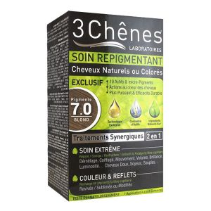 3 Chênes Soin repigmentant cheveux naturels ou colorés - 7.0 blond