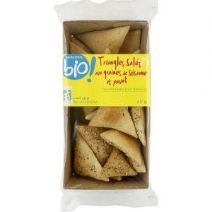 Monoprix Bio Triangles salés aux graines de sésame et pavot bio