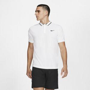Nike Polo de tennis Court Dri-FIT pour Homme - Blanc - Taille S - Male