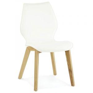 Kokoon Design Chaise design aux influences nordiques SIRET (BLANC)