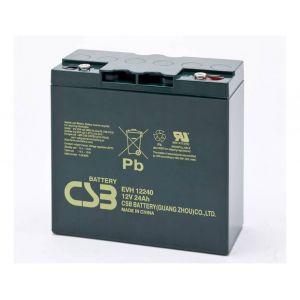 CSB battery Batterie au plomb 12 V 24 Ah EVH 12240 plomb (AGM) (l x h x p) 181 x 170 x 170 mm raccord à vis M5 résistant aux cycles de charge, sans entretien,