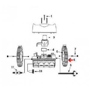 Procopi 1021005 - Pneu cranté avec ergot de robot Victor