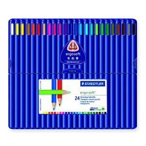 Staedtler 157-SB24 - 24 Crayons de couleur Ergosoft assortis