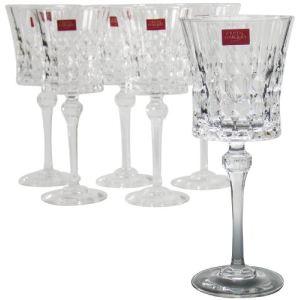 Cristal d'Arques Coffret de 6 verres à pied Lady Diamond (27 cl)