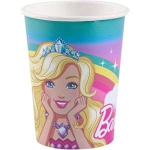 8 Gobelets en carton Barbie Dreamtopia 250 ml
