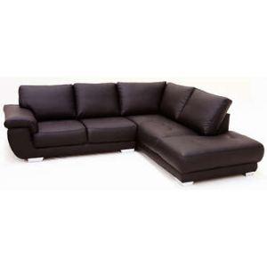 Canapé d'angle à droite fixe Galaxy 5 places