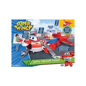 "Auldey Super Wings Playset Jett l'Avion + 1 figurine Jett ""Pop Up"""