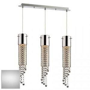 Ideal lux Suspension 3 lampes design Gocce Chrome Métal 091143