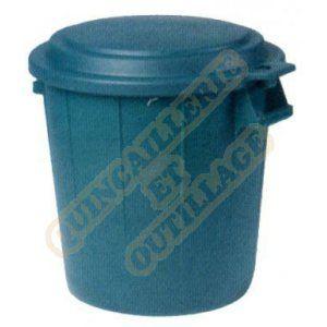 Eda Plastiques Poubelle d'extérieur sans couvercle 50 L vert Poubelle plastique, Conteneur, Couvercle EDA