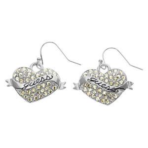 Guess UBE11001 - Boucle d'oreilles Coeur en métal argenté