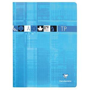 Clairefontaine 3327C - Cahier Travaux Pratiques Metric 240x320, 80p./40 feuilles 90 g/m² / 125 g/m² piquées, Séyès / uni