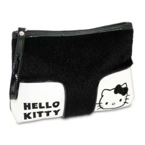 Trousse de maquillage Hello Kitty noire