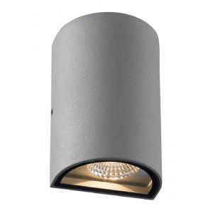 Vertak Applique d'extérieur LED demi-ronde à double faisceau gris anthracite