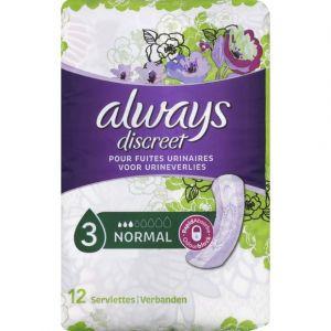 Always Serviettes pour fuites urinaires, normal