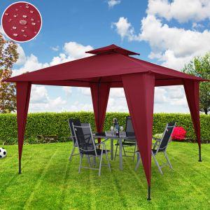 Deuba Tonnelle/Pavillon Sairee rouge tente de jardin réception 3,5m x 3,5m - 12,25m²