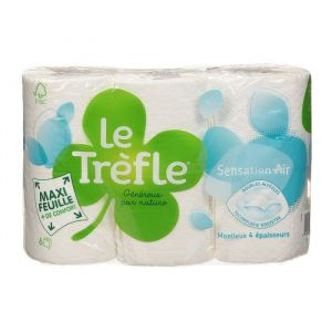 Le trèfle Papier toilette Sensation air - Maxi feuille - 6 rouleaux
