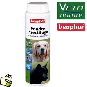 Beaphar Poudre insectifuge pour chiens et chats aux extraits de margosa (250 ml)