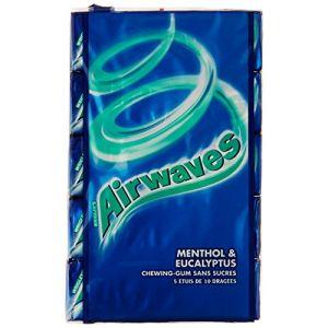 Airwaves Chewing-gum sans sucres aux goûts menthol et eucalyptus