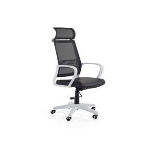 Beliani Chaise de bureau - Fauteuil design noir blanc - Leader