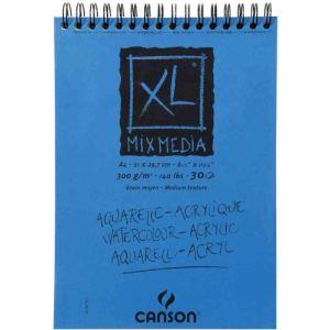 Canson 807215 - Bloc croquis XL Mix Media à 30 feuilles 300 g (A4)