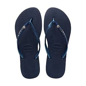 Havaianas Slim - Tongs - Femme - Bleu (Bleu Marine 0555) - 39/40 EU (37/38 Brazilian)