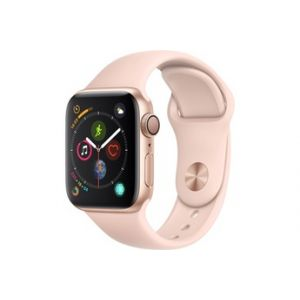 Apple Watch Series 4 GPS + Cellular 40 mm - Boîtier en aluminium or avec Bracelet Sport rose des sables