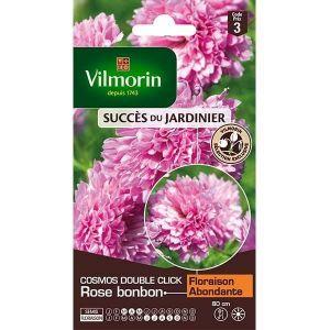 Vilmorin Cosmos double click rose bonbon - Sachet de graines