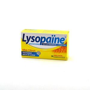 Boehringer Ingelheim Lysopaïne Miel citron - Maux de gorges - 36 comprimés à sucer