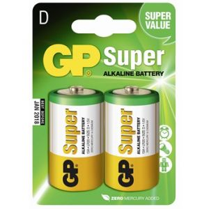 GP Batteries 2 piles 1,5V Super D/LR20 Alkaline