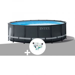 Intex Kit piscine tubulaire Ultra XTR Frame ronde 5,49 x 1,32 m + Kit de traitement au chlore