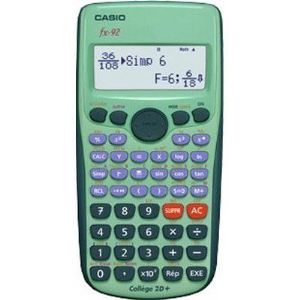 Casio FX-92 Collège 2D+ - Calculatrice scientifique