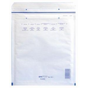 Clairefontaine 7344C - Paquet filmé de 10 pochettes matelassées N°4, kraft blanc à bulles, 90 g/m², 175x265 (dim. intérieures)