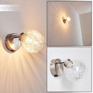 Hofstein Applique Iskuras en métal nickel mat - Spot pivotant - Lampe d'intérieur pour salle de séjour - couloir - chambre à coucher - cuisine